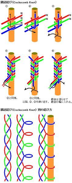 鶏冠結び(cockscomb)の結び方