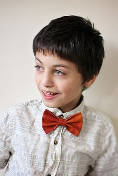Burnt Orange Bowtie Fall Accessory Clip On  by LittleMeBling
