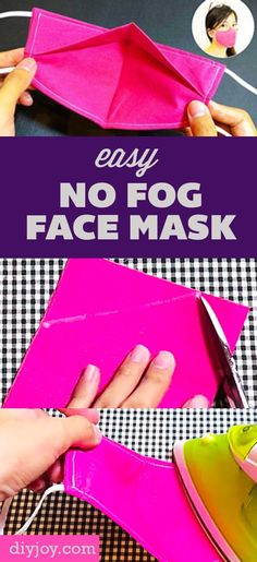 Diy Sewing Projects, Sewing Tutorials, Sewing Hacks, Sewing Crafts, Fabric Crafts, Craft Tutorials, Easy Face Masks, Diy Face Mask, Diy Mask