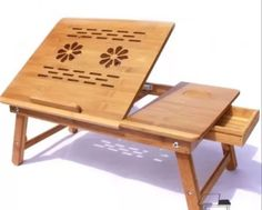 LAPTOP LIGHT BAMBOO STRONG PORTABLE NOTEBOOK COMPUTER DESK BED TRAY TABLE STAND
