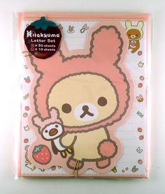 janetstore.com: kawaii stationery,letter sets, stickers, gifts and more - San-X Rilakkuma bear letter set 4974413587679