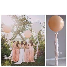 Tassel tail balloons