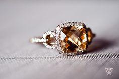 Citrine & diamond ring.  So elegant and unique.