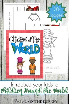 Introduce your kids to children around the world with this 76-page coloring and writing pack! | http://embarkonthejourney.com