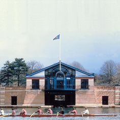 Henley Royal Regatta Headquarters Sir Terry Farrell 1985  Photo copyright to Farrells #sirterryfarrell #farrells #postmodern #postmodernism #postmoderndesign #postmodernarchitecture #thetriumphofpostmodernism #1980s #classicalarchitecture #henley #boathouse #londonarchitecture #archidaily #archilovers #colorfuldesign #colorfularchitecture #architecture #architexture #architecturelovers #buildinglovers #thames #abitare_residency by adamnathanielfurman