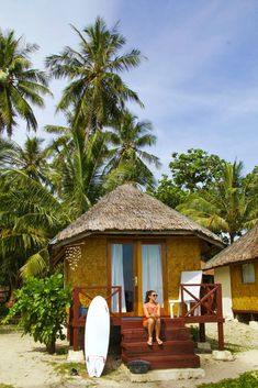 simeulue surf lodges beach hut sumatra