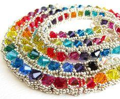 Beadweaving Tutorial 24  Crystal Deco Jewellery by nemeton on Etsy, £4.00