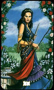 A card from the rare 'Buckland Romani' Tarot - a deck based on English gypsies, coming soon to Psychic Bazaar