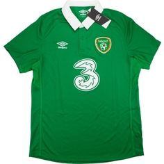 b7a7da548 Ireland Football Shirts and Kit - 1980s to present - Small - Medium