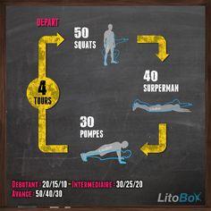 Séance de CrossFit sans matériel = pas d'excuses ;) Allez #TousEnBleu !