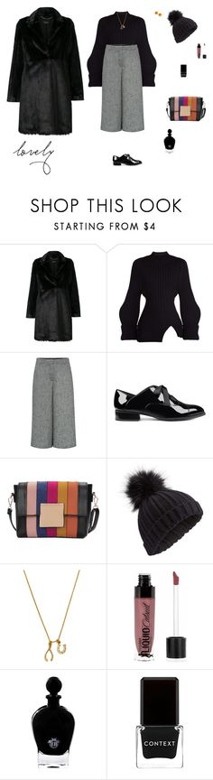 """""""Pom pom hat"""" by mariagraziatrotta ❤ liked on Polyvore featuring LIU•JO, Jacquemus, Theory, Nine West, Miss Selfridge, Chrysalis, Wet n Wild, EB Florals, Context and L. Erickson"""