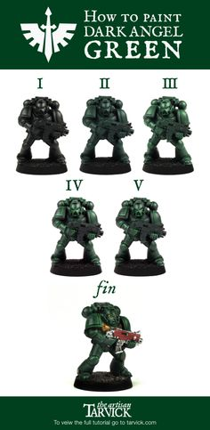 How to paint Dark Angel green! Armor Tutorial! Check out the full #DarkAngels tutorial here! http://tarvick.com/archives/2317