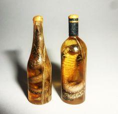 Dollhouse miniature 1:12 OOAK Vodka with snake, cobra by miniatureVictoriya