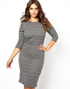Image 1 of Club L Printed Body-Conscious Dress