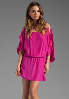 KARINA GRIMALDI Pampita Mini Dress in Hot Pink at Revolve Clothing - Free Shipping!