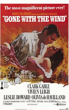 This is the poster for the re-issue of Gone with the Wind, by Howard Terpning