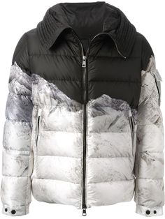 MONCLER W printed padded coat