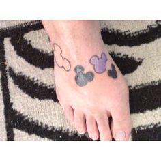 Disney tattoos...family style, add Minnie bows for girls