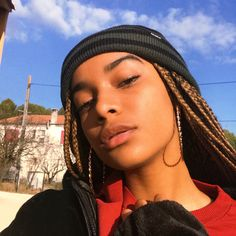 Braids and hat - ChicLadies. Bandana Hairstyles, Black Girls Hairstyles, Braided Hairstyles, Pretty People, Beautiful People, Curly Hair Styles, Natural Hair Styles, Black Girl Aesthetic, Light Skin