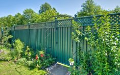 Metal garden gates that are robust, bespoke and built to last. Every ColourGate comes in a variety of colours and can be chosen as an extra when purchasing a ColourFence or ColourRail. Garden Planters, Herb Garden, Dog Friendly Garden, Metal Garden Fencing, Low Maintenance Garden, Garden Projects, Gardening Tips, Garden Design, Things To Come