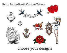http://tattoo-ideas.us #retro customisable temporary tattoos - party favors tattoo booth photo booth