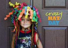 Crazy Hats let Whale of a Sale Shoppers know who to ask for help. Because people who wear crazy hats reek competence. Crazy Hat Day, Crazy Hats, Diy For Kids, Cool Kids, Crafts For Kids, Balloon Hat, Wacky Hair, Silly Hats, Hat Crafts