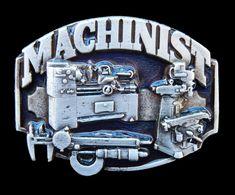 MACHINIST MACHINE METAL WORKSHOP SHOP TOOL BELT BUCKLE