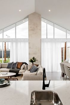 The Grand Madeleine Display Home Ellenbrook Modern Lounge Rooms, Living Room Modern, Home And Living, Living Area, Living Room Designs, Living Spaces, Summit Homes, New Home Designs, Living Room Inspiration