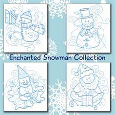 Enchanted Snowman Set - 4x4, 5x7 & 6x10 | Sealed with a Stitch