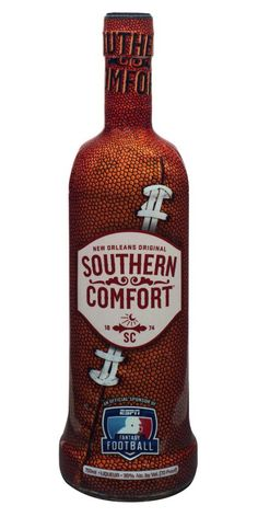 Southern Comfort's Football Season Bottle -- How awesome is this bottle?! | #SoCo Bottle showcased on drinkinginamerica.com