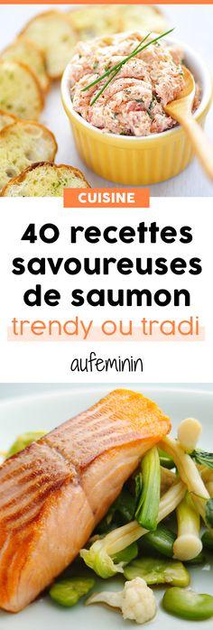 Comment cuisiner le saumon autrement ? Saumon fumé ou saumon frais, saumon cuit ou saumon cru, toutes nos recettes riches en oméga3 ! /// #aufeminin #recettes #saumon #poisson #omega3 #plat #cuisiner