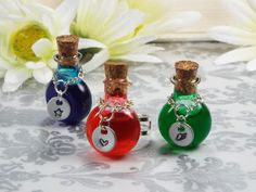 New to fripparie on Etsy: Health Stamina or Mana RPG Video Game Potion Bottle Ring Jewelry Gamer Gift (45.00 USD)