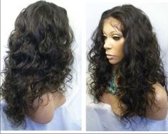 "Selectable *Malaysia Curly* Full Lace Wig/ Lace Front Wig Remy Human Hair #FullWig  12"" TO 20""  $97.85 to $209.00"