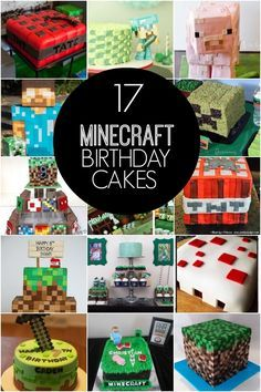 Awesome Minecraft Birthday Cakes - Spaceships and Laser Beams @ljones36 I'm thinking Harrison might like this!
