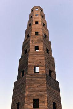 Pezo von Ellrichshausen Constructs Temporary Wooden Tower in Paris' Jardin des Tuileries,Courtesy of Pezo von Ellrichshausen
