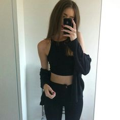Black, minimal ,American apparel outfit via weheartit #AmericanApparel #BestOfSeenAndSubmitted