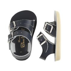 Salt-Water baby sandals. I feel like I can picture H on a very European beach wearing these. Ha!