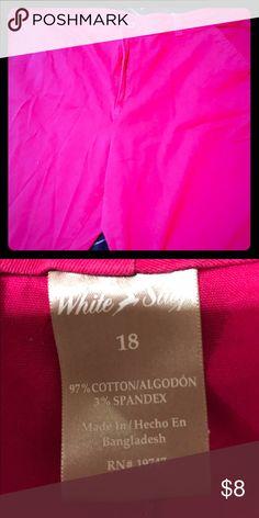 Fuchsia Bermuda shorts Hot pink ladies plus size shorts White Stag Shorts Bermudas
