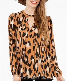 2c2c23aee055 Camel Animal Print Keyhole Blouse - Peach Love CA - Debra s Passion Boutique  - 1 Camel