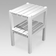Polywood® Recycled Plastic Traditional 2-shelf Side Table