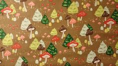 Alexander Henry/ North Pole Mushroom/ Cotton Fabric/ Sewing and Quilting/ Cocoa Brown/ Toadstools/ Sold BTY by HouseOfJdawn on Etsy