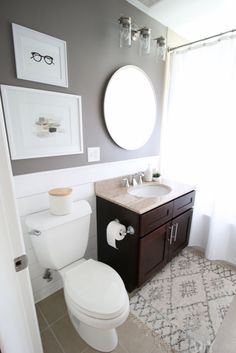The wait is over on Bridget's DIY shiplap bathroom reveal! She is finally done with her mini bathroom makeover and you won't believe what this shiplap bathroom looks like now! Come check it out.
