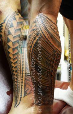 Samoan Tattoo Pattern | Leg tattoo by Samoan Mike @Heather Creswell Fuentes Center Tattoo