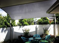 Escape the summer heat with shade sails . . . .  #shade #sail #stainlesssteel #wire #summer # heat #exteriordesign #gardens #sun #beautiful #stylish