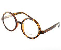 VTG Style Clear Lens Tortoiseshell Geek Glasses Retro Brown Steampunk Sunglasses