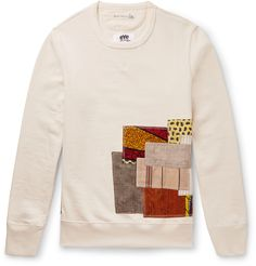 <a href='http://www.mrporter.com/mens/Designers/Junya_Watanabe'>Junya Watanabe</a>'s cream sweatshirt has been produced in collaboration with leading jersey label Merz b. Schwanen. This idiosyncratic design sports patches in an array of differing patterns, colours and materials - it's emblematic of the way the Japanese designer reworks classic pieces to be both cutting-edge and easy to wear. This unique garment is crafted from a mix of cotton and linen for a lightweight, breathable feel…