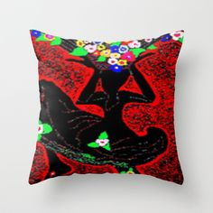 "As a child I was always dancing when I collected our flowers or my spirit was very happy shopping them!..    Throw Pillow  / Indoor Cover (16"" x 16"")    Christa Bethune Smith, Cabsink09 (cabsink09)  She Dance Flowers by Christa Bethune Smith, Cabsink09  	 . $20.00"