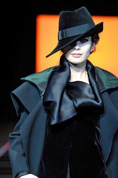 Giorgio Armani RTW Fall-Winter 2012 hat http://berryvogue.com/womenshats