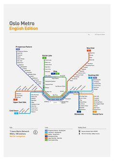 Oslo Metro Map: Literal English Translation