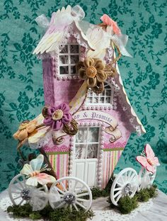Terry's Scrapbooks: Wimsey House tutorial  J & S Hobbies and Crafts Ja...